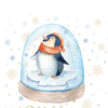 A penguin in a crystal ball