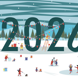 Happy New Year 2020 - Landscape