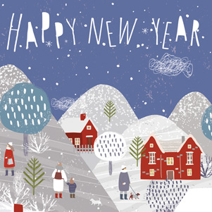 Happy New Year - winter landscape